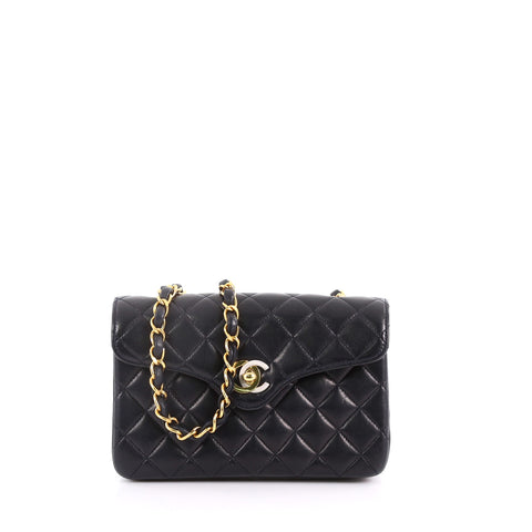 2e4bd73fde3b Buy Chanel Vintage Two-Tone CC Flap Bag Quilted Lambskin 3609804 – Rebag