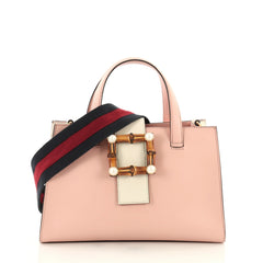 Gucci Bamboo Buckle Tote Leather Small Pink 3612204