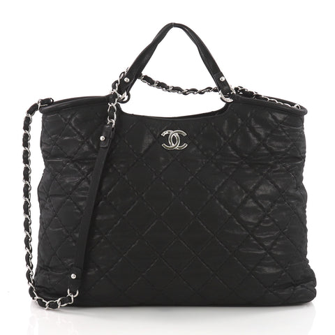 e7a6def491ae Buy Chanel CC Sea Hit Tote Quilted Iridescent Calfskin Large 3612207 – Rebag
