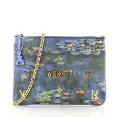 Louis Vuitton Pochette Clutch Limited Edition Jeff Koons Monet Print Canvas 3613107