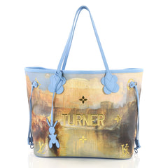 Louis Vuitton Neverfull NM Tote Limited Edition Jeff Koons Turner Print Canvas MM 3613114