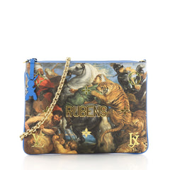 Louis Vuitton Pochette Clutch Limited Edition Jeff Koons Rubens Print Canvas 3613120