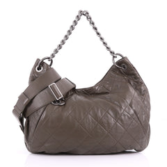 Coco Pleats Hobo Quilted Calfskin Large