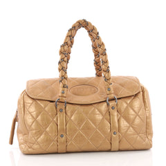 Chanel Lady Braid Flap Tote Quilted Distressed Lambskin 3614601