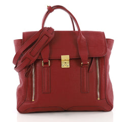 3.1 Phillip Lim Pashli Satchel Leather Large Red 3616001