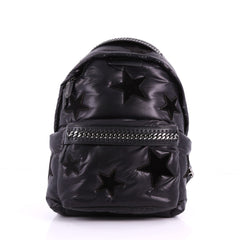 Stella McCartney Falabella Go Backpack Nylon with Applique Medium Black 3616904