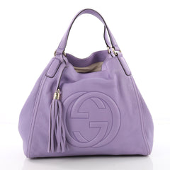 Gucci Soho Shoulder Bag Leather Medium Purple 3620103
