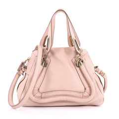 Chloe Paraty Top Handle Bag Leather Small Pink 3621005