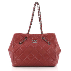 Chanel Cells Tote Quilted Caviar Large Red 3621806