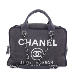 3fc4695a0680 Chanel Deauville Bowling Bag Denim Large Blue 3623217