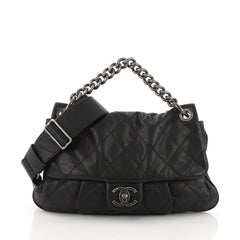 Chanel Coco Pleats Messenger Bag Quilted Calfskin 3623225