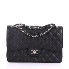 Chanel Classic Double Flap Bag Quilted Caviar Jumbo 3623229