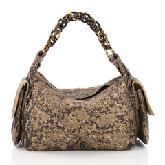 Bottega Veneta Cocker Hobo Intrecciato Python Brown 3623702