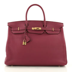 Hermes Birkin Handbag Pink Togo With Gold Hardware 40 3624701