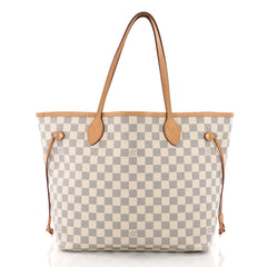 Louis Vuitton Neverfull NM Tote Damier MM White 3625701