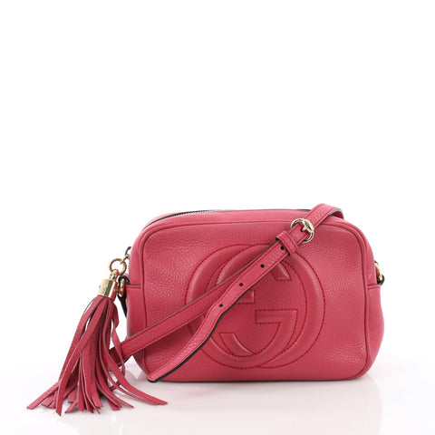 e749d4d6af4c27 Gucci Soho Disco Crossbody Bag Leather Small Pink 3630501 – Rebag