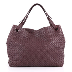 Bottega Veneta Bella Tote Intrecciato Nappa Large Purple 3631703