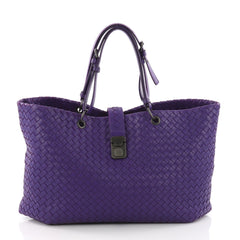 Bottega Veneta Capri Tote Intrecciato Nappa Large Purple 3632001