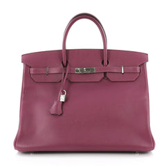 Hermes Birkin Handbag Purple Epsom with Palladium 3632201