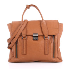 3.1 Phillip Lim Pashli Satchel Leather Large Brown 3634301