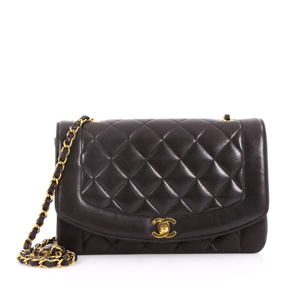 3add1f794c4fc5 Buy Chanel Vintage Diana Flap Bag Quilted Lambskin Medium 3634743 – Rebag
