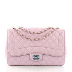 Chanel Mademoiselle Chic Flap Bag Quilted Lambskin Jumbo 3636101