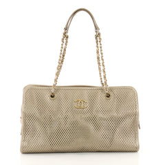Up In The Air Tote Perforated Leather East West