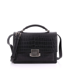 Saint Laurent Bellechasse Satchel Crocodile Embossed 3641301