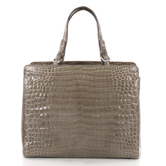 Bottega Veneta Belted Tote Crocodile Medium Brown 3645101