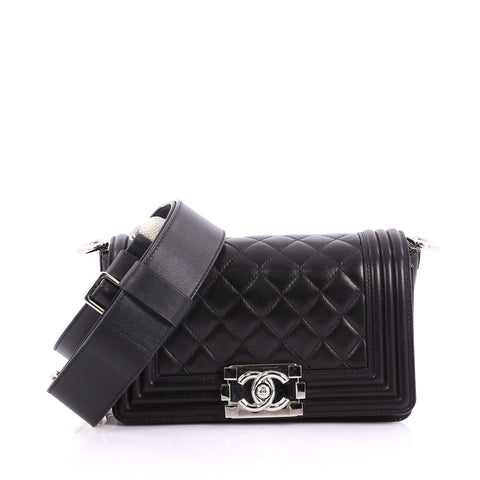 Buy Chanel Boy Flap Bag with Strap Quilted Lambskin Small 3645113 – Rebag 586360d0a812f
