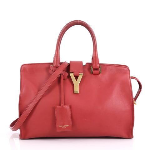Saint Laurent Classic Y Cabas Leather Small Red – Rebag 5016a687953f7