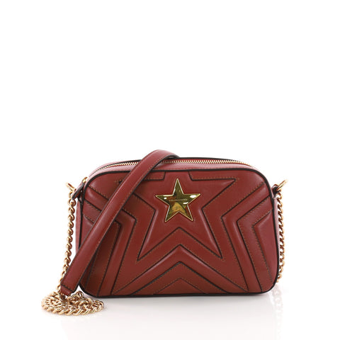 8192951525a Stella McCartney Stella Star Crossbody Bag Quilted Faux 3647101 – Rebag