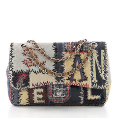 Flap Bag Multicolor Patchwork Jumbo