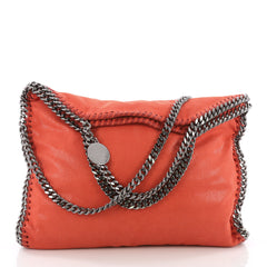 Stella McCartney Falabella Fold Over Bag Shaggy Deer Red 36490119