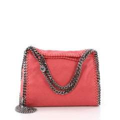 Stella McCartney Falabella Fold Over Crossbody Bag Shaggy Deer Mini Pink 36490120
