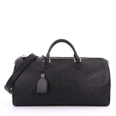 Loewe Repeat Duffle Bag Anagram Embossed Calfskin Large Black 36490161