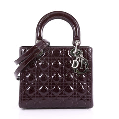 Christian Dior Lady Dior Handbag Cannage Quilt Patent 3649052