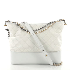 Gabrielle Hobo Quilted Aged Calfskin Large