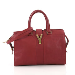Saint Laurent Chyc Cabas Tote Leather Small Red 3649090