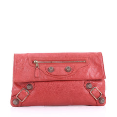 Balenciaga Envelope Clutch Giant Studs Leather Red 3649092