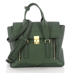 3.1 Phillip Lim Pashli Satchel Leather Medium Green 3650301