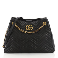 Gucci GG Marmont Chain Shoulder Bag Matelasse Leather 3651203