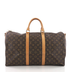 Louis Vuitton Keepall Bag Monogram Canvas 50 Brown 36545/03