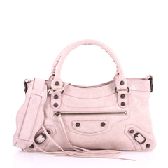 Balenciaga First Giant Studs Handbag Leather Pink 3654529