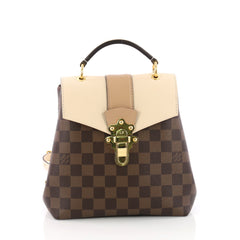 Louis Vuitton Clapton Backpack Damier Canvas and Leather Brown 3654702