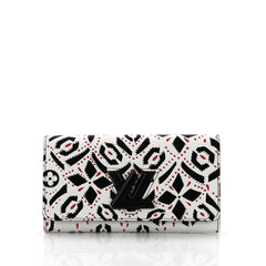 Louis Vuitton Twist Wallet Limited Edition Graphic Leather White 36578/01