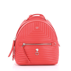 Fendi DotCom Backpack Quilted Leather Mini Red 3662416