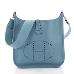Hermes Evelyne Crossbody Gen I Epsom PM Blue 3662710
