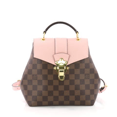 Louis Vuitton Clapton Backpack Damier Canvas and Leather Pink 3663015