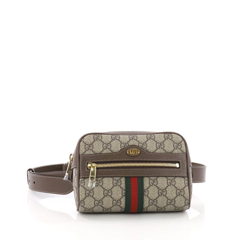 3260c949f2784e Gucci Ophidia Belt Bag GG Coated Canvas Small Brown 3666601 – Rebag